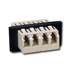 Siemon FOB Bezel with 2 Duplex LC Adapters (4 Fibers)