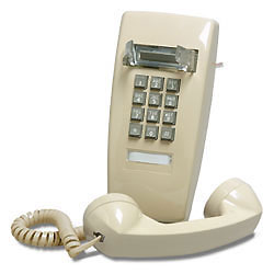 ITT Cortelco 2554 Series Wall Phone with A-lead