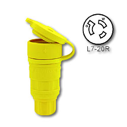 Leviton 20 Amp Wetguard Locking Connector - Industrial Grade 277 Volt (Grounding)
