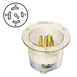 Hubbell Twist-Lock Flanged Inlet