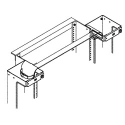 Chatsworth Products Rack Radius Drop for Single Sided Vertical Cabling Section