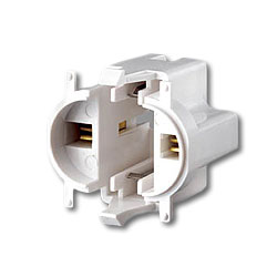 Leviton 10mm Compact Vertical Top Snap-In Fluorescent Lampholder