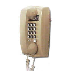 ITT Cortelco 2554 Series Fully Modular Wall Phone with Flash and Message Waiting