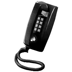 ITT Cortelco 2554 Series Single-Line Wall Phone with Single Gong Ringer