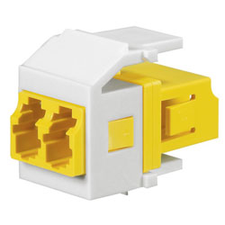 Panduit® Netkey Keyed D Duplex LC Adapter Module with Zirconia Split Sleeves