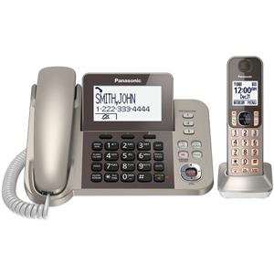 Panasonic Cordless Phone and Answering Machine with 1 Handset