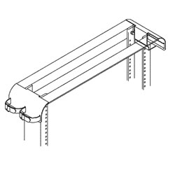 Chatsworth Products Rack Radius Drop for 3