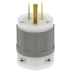 Leviton Gray Blade Plug 15Amp 125V 2-Pole, 3-Wire Grounding