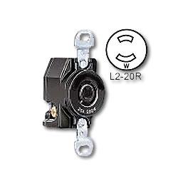 Leviton 20 Amp Flush Mtg Locking Receptacle (Non-Grounding)