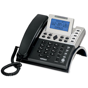 ITT Cortelco 12 Series Two Line Caller ID Business Telephone with 7.5v AC Adapter