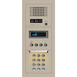 Aiphone 1x3 Modular Audio Entrance Station with Digital Directory