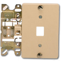 Suttle 4-Conductor Wallplate with Screw Terminals & Plastic Cover Plate