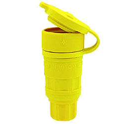 Leviton Wetguard Locking Connector in High-Visibility Yellow