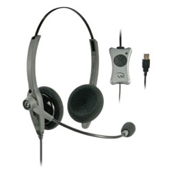 VXI TalkPro UC2 Binaural USB Headset Optimized for Unified Communications