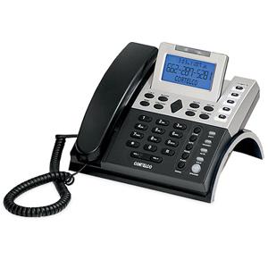 ITT Cortelco 12 Series Single Line Caller ID Telephone with 7.5v DC Adapter