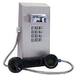 Ceeco Vandal Resistant VoIP Mini Stainless Steel Wall Telephone