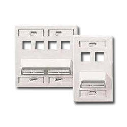 Leviton Angled 8-Port Wallplate with Four Angled Ports