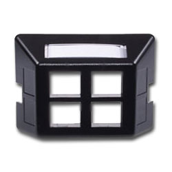 Hubbell Infin-e-Station Furniture Plate - 4 Port