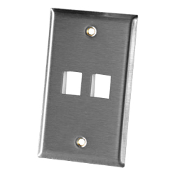 Legrand - Ortronics 2 Port Single Gang Stainless Steel Faceplate