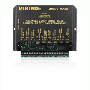 Viking Advanced Two Door Entry Phone Controller with Call Forwarding and Door Strike Controls