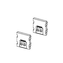 Leviton Dulplex ST or FC Coupling 45 Degree Exit, SM/MM (2 Units High)