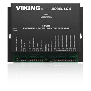 Viking 6 Port Line Concentrator for Emergency Phones