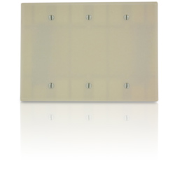 Leviton 3-Gang Midsize Blank Box Mount Wallplate