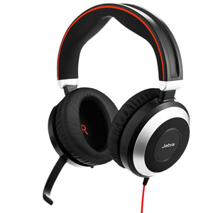 Jabra Evolve 80 Unified Communications Corded Headset (Stereo)