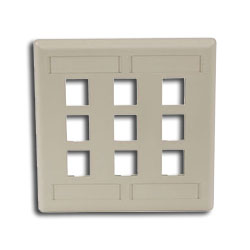 Hubbell IFP Double Gang Wall Plate - 9 Ports