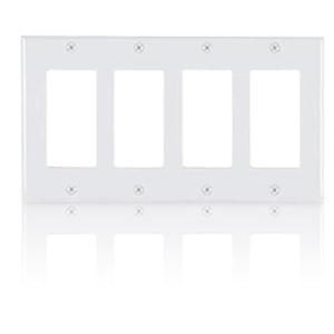 Allen Tel Designer Series Four Gang Wall Plate