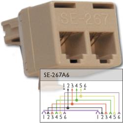 Suttle 6P6C Modular T Adapter