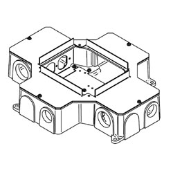 Legrand - Wiremold RFB4 Series Four-Compartment Cast Iron Floor Box