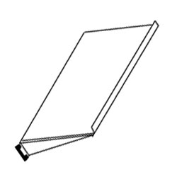Chatsworth Products Space-Saving Stationary Keyboard Shelf