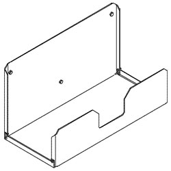Chatsworth Products Wall-Mount CPU Shelf