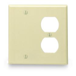 Leviton Urea Combination 2 Gang Wallplate (1 Duplex/1 Blank)