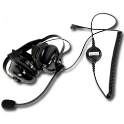 Impact Radio Accessories Platinum Series Behind the Head Double Muff Heavy Duty Noise Cancelling Headset