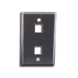 Hubbell 2 Port Stainless Steel Faceplate