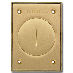 Hubbell Brass 2.375 Inches Single Receptacle Round Floor Box Cover