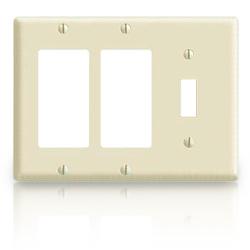 Leviton Decora Standard Size Smooth Plastic Wallplates