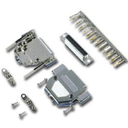 Allen Tel Shielded Connector Kit with Metalized Plastic Hoods (9-Pin)