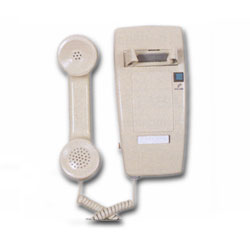 Allen Tel Miniwall Phone Set - No Dial with Amplified Handset