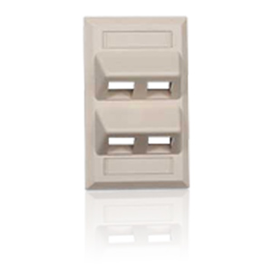 Hubbell 4 Port Angled Face Plates
