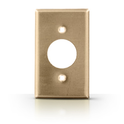 Leviton Metal 1 Gang Single Receptacle Wallplate