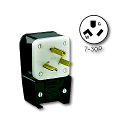 Leviton Matching Angle Plug 30Amp 277V 2-Pole 3-Wire Grounding