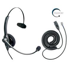 VXI Passport 10P Monaural Noise-Canceling Headset with QD1029P Headset Cable Bundle
