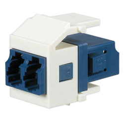 Panduit® Netkey Keyed F Duplex LC Adapter Module with Zirconia Split Sleeves