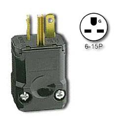 Leviton 15Amp 250V Industrial Grade NEMA 6-15 Plug