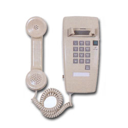 Allen Tel Mini Wall Phone with Amplified Handset and Pulse Dial