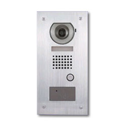 Aiphone Video Door Station with HID Reader, Flush Mount