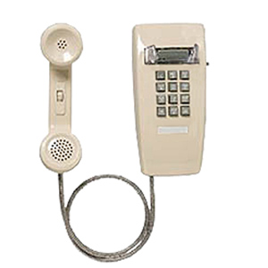 Allen Tel Miniwall Phone with Armored  Cord